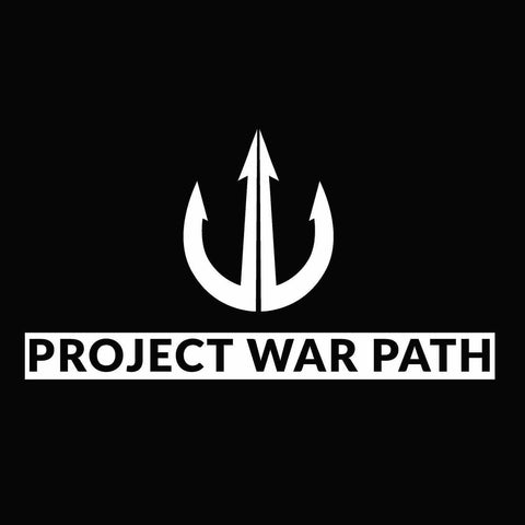 WHITE PLOT CUT STICKER, NO EDGES OR BACKGROUND-Stickers-Project War Path-Project War Path