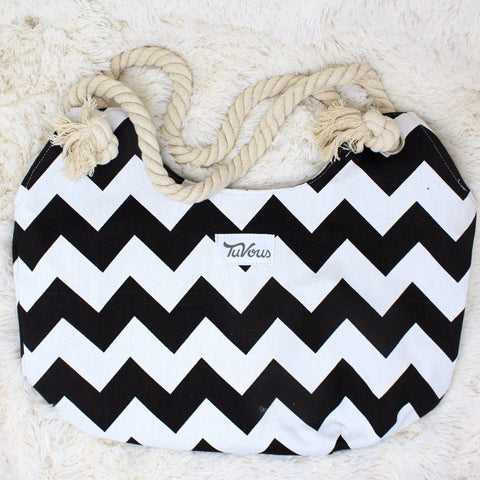 CANVAS TRIBAL PRINT BEACH TOTE