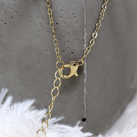 TRIANGLE STONE CHARM NECKLACE