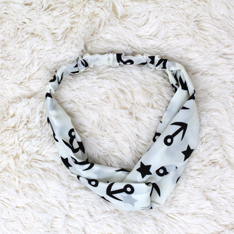 ANCHOR PRINT HEADBAND