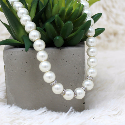 FAUX PEARL FASHION NECKLACE