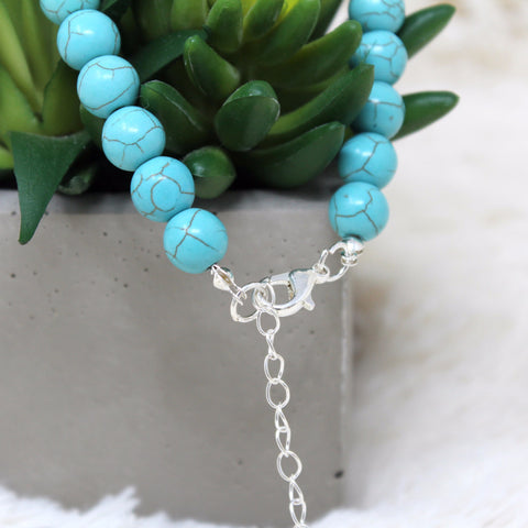 LAYERED AZURE BEADS NECKLACE