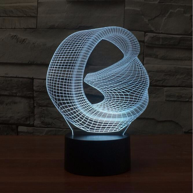 Abstract II 3D LED Night Light Lamp - 3D LED LAMP 3DLightLamps.com