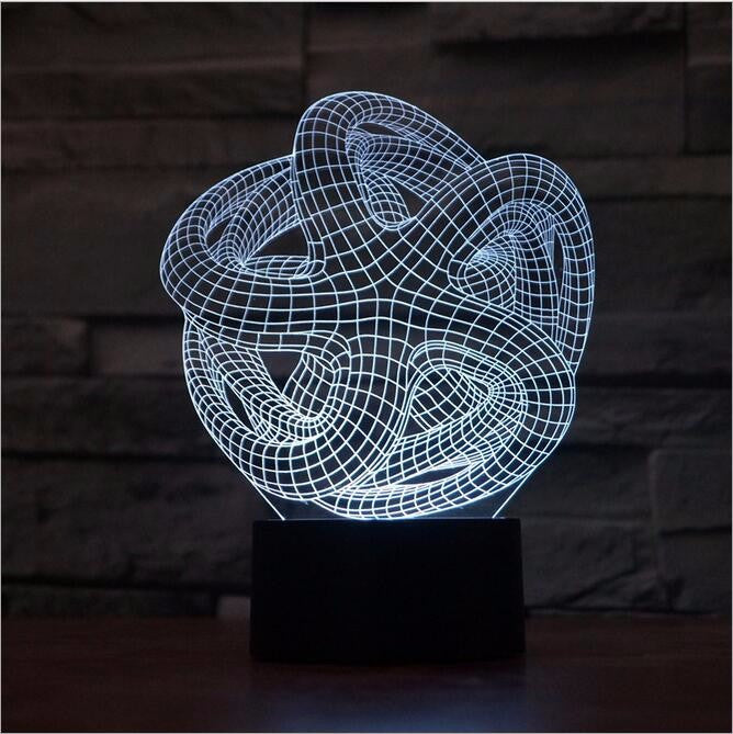 Abstract Octopus Shaped Sphere 3D LED Night Light Lamp - 3D LED LAMP 3DLightLamps.com