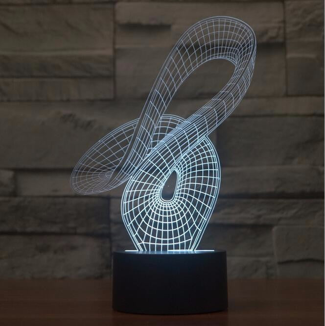 Abstract Ribbon 3D LED Night Light Lamp - 3D LED LAMP 3DLightLamps.com