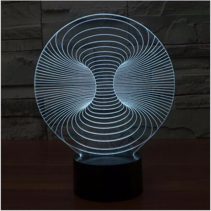 Abstract Sphere III 3D LED Night Light Lamp - 3D LED LAMP 3DLightLamps.com