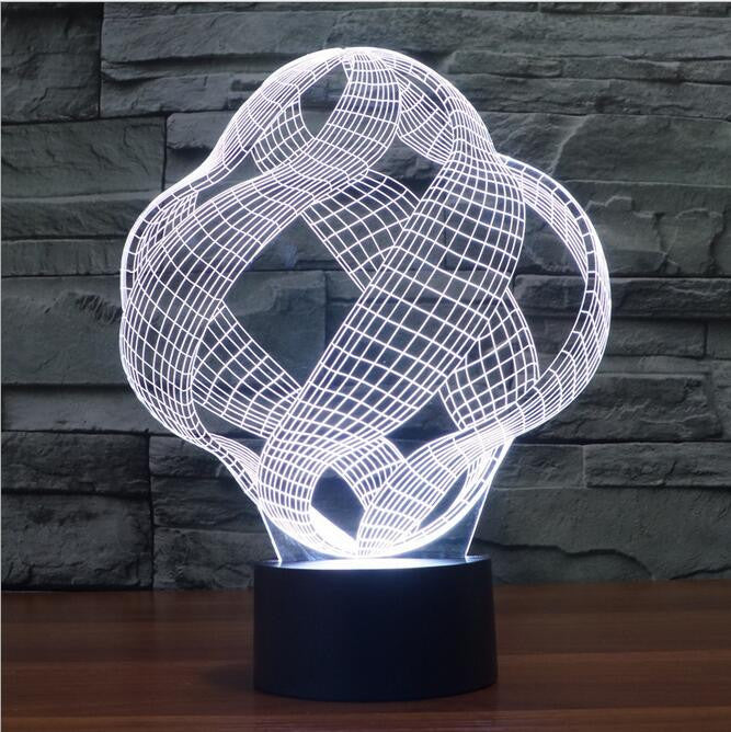 Abstract Sphere II 3D LED Night Light Lamp - 3D LED LAMP 3DLightLamps.com
