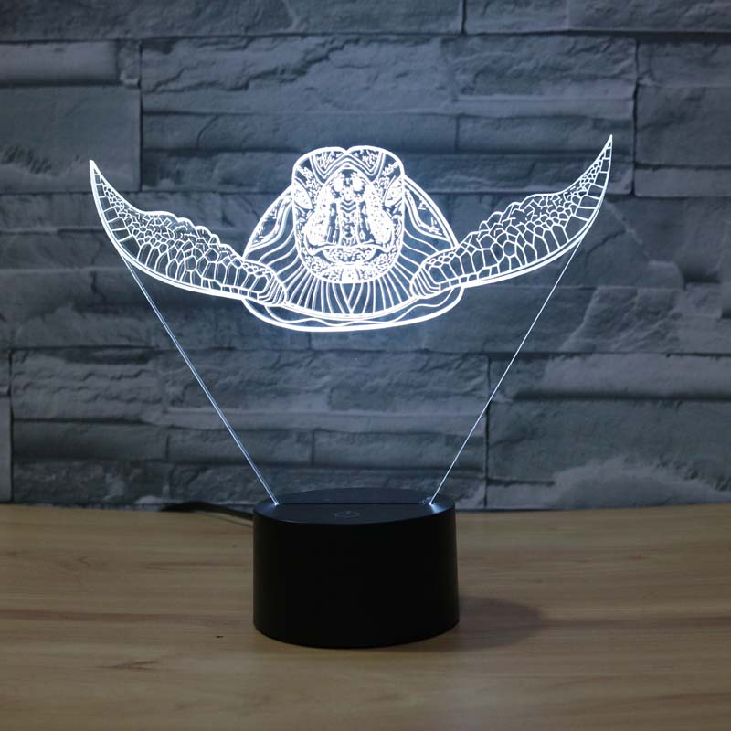Swimming Turtle 3D LED Lamp - 3D LED LAMP 3DLightLamps.com