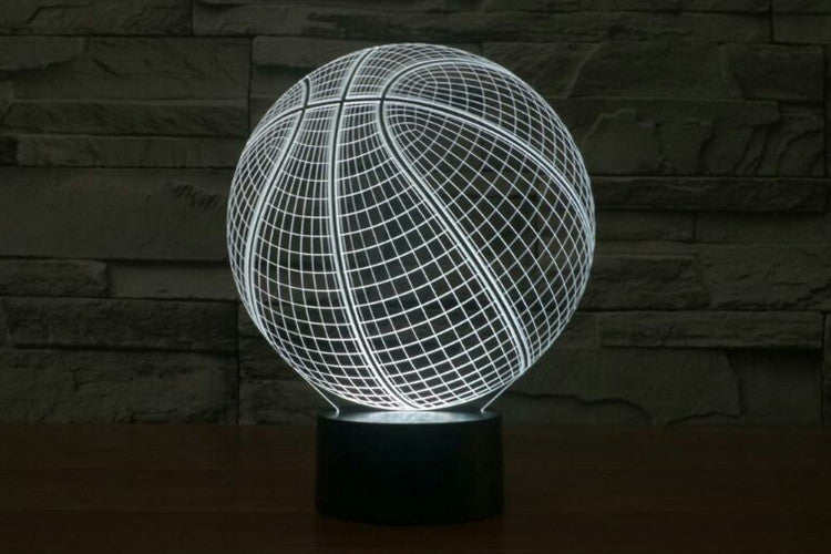 Basketball 3D LED Night Light Lamp - 3D LED LAMP 3DLightLamps.com