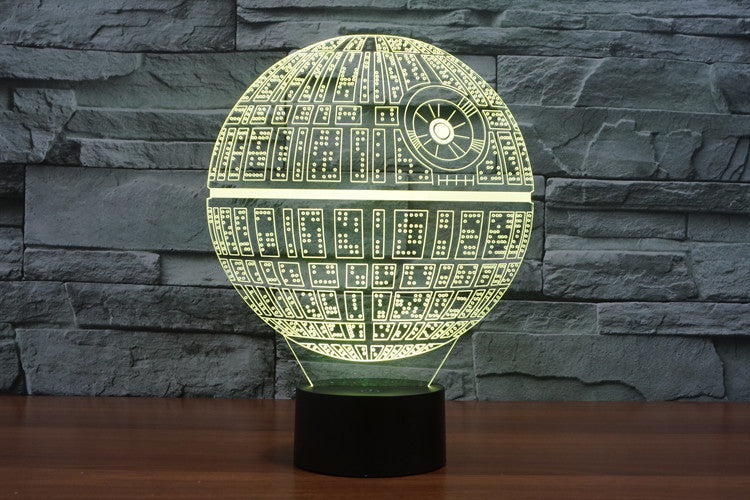 Star Wars Death Star Lamp - 3D Light Lamps