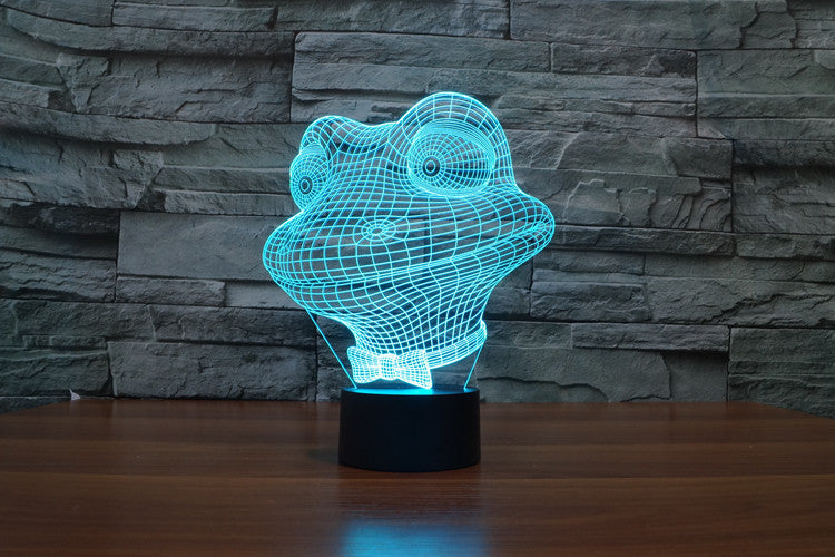 Mr Frog 3D LED Night Light Lamp - 3D LED LAMP 3DLightLamps.com
