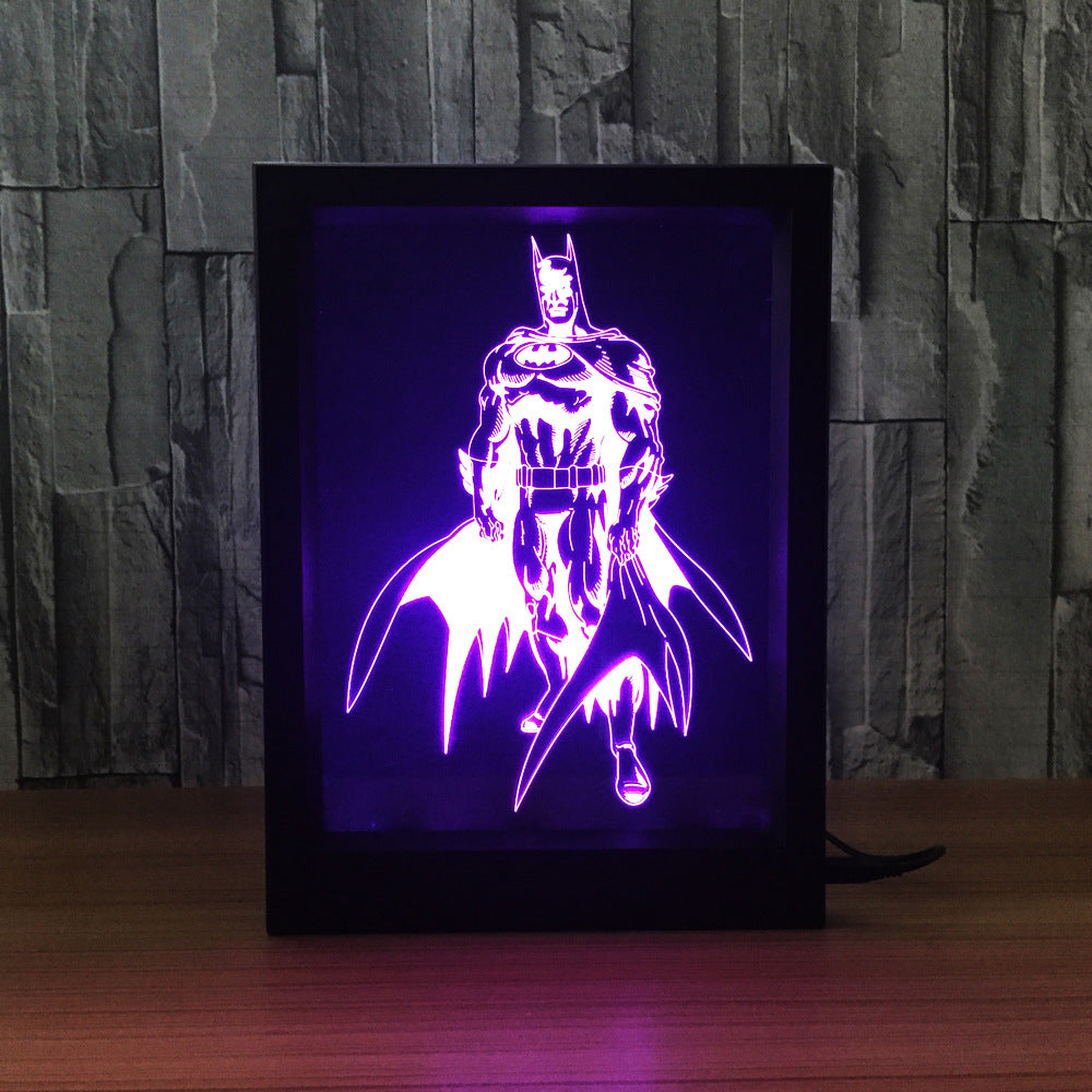 The Batman 3D LED Night Light Framed - 3D LED NIGHT LIGHT FRAMED 3DLightLamps.com