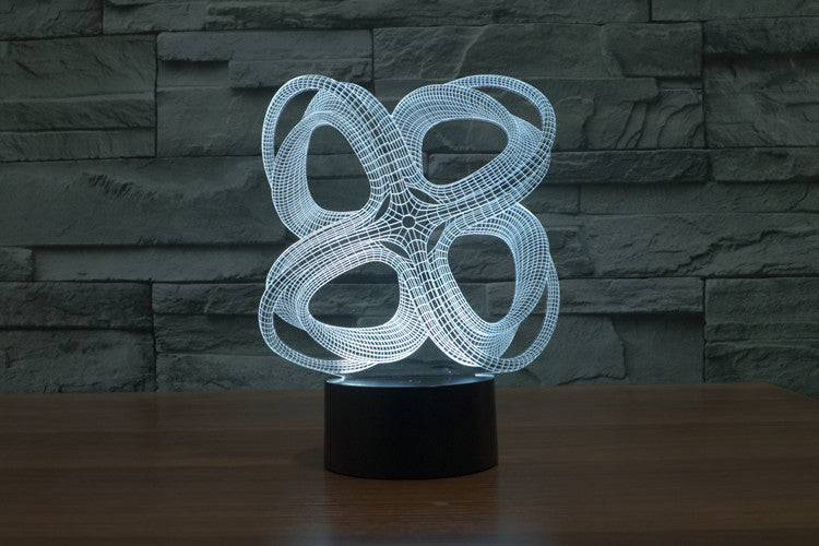 Abstract Void 3D LED Night Light Lamp