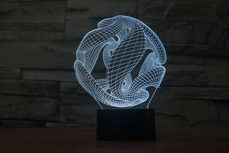 Abstract X 3D LED Night Light Lamp - 3D LED LAMP 3DLightLamps.com