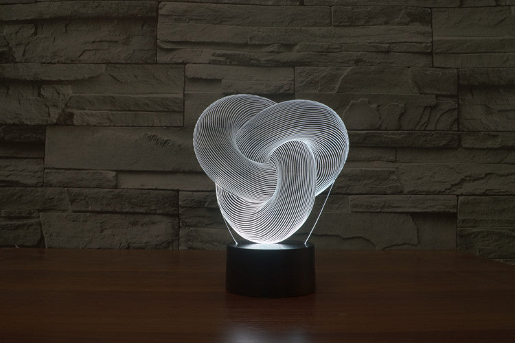 Abstract Knot 3D LED Night Light Lamp - 3D LED LAMP 3DLightLamps.com