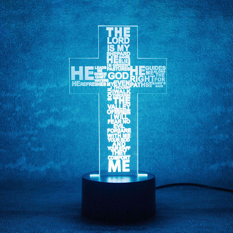 The Lord Prayer 3D LED Lamp - 3D LED LAMP 3DLightLamps.com