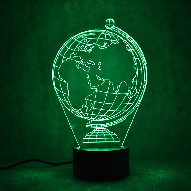 Earth Globe Map 3D LED Night Light Lamp - 3D LED LAMP 3DLightLamps.com