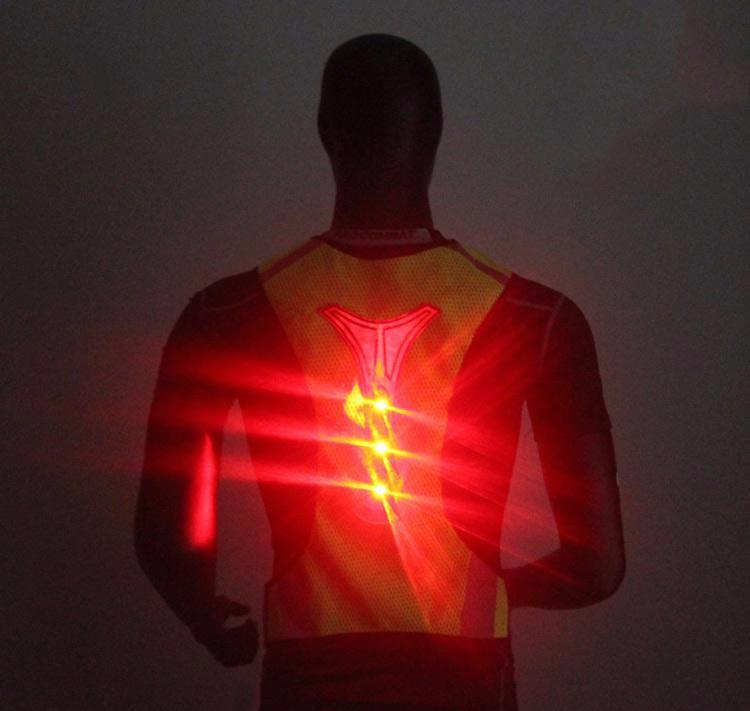 Safety First LED Reflective Vest for Night Running Cycling High Visibility
