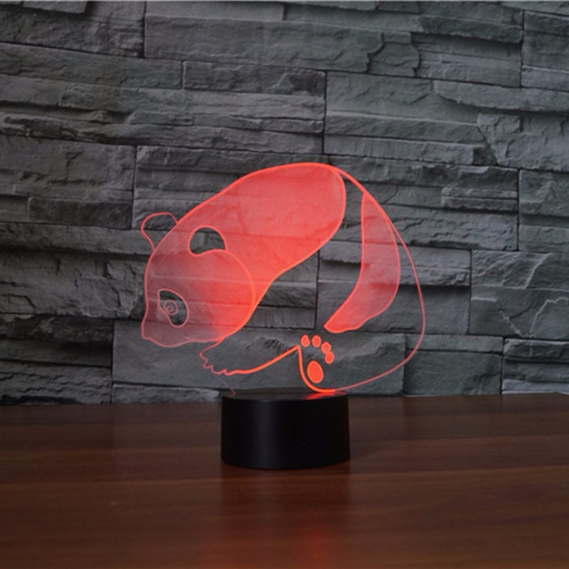 Sitting Panda Bear 3D LED Lamp - 3D LED LAMP 3DLightLamps.com