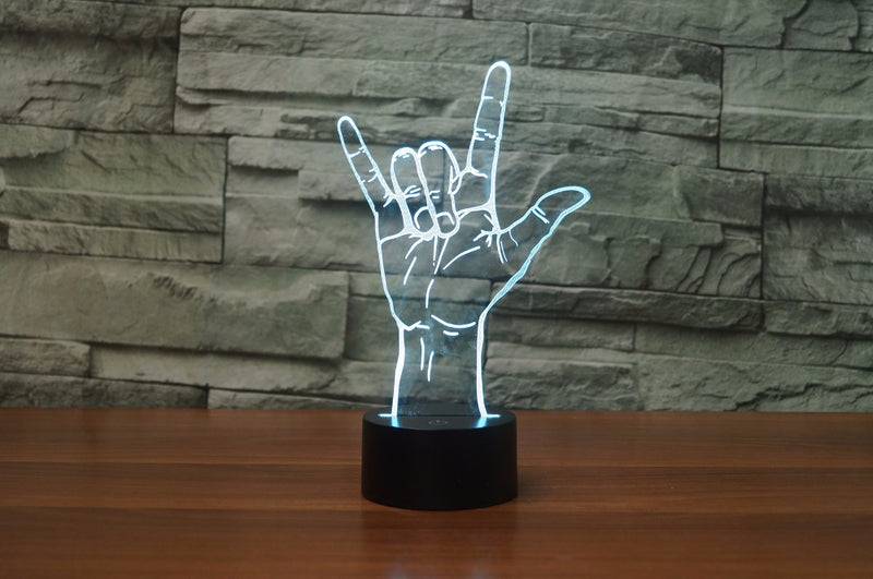 ILY Sign 3D LED Lamp