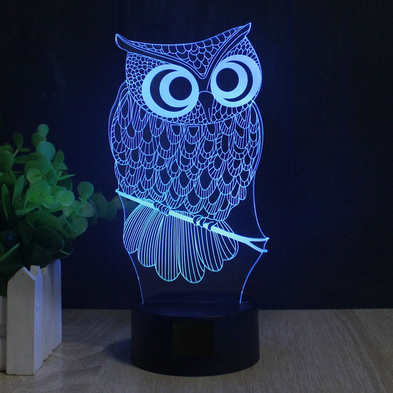 Wise Owl 3D LED Lamp