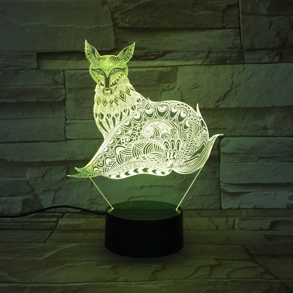 The Fox 3D LED Lamp