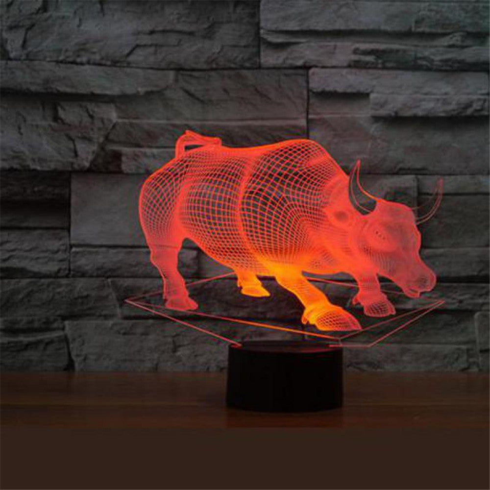 Raging Bull 3D LED Lamp