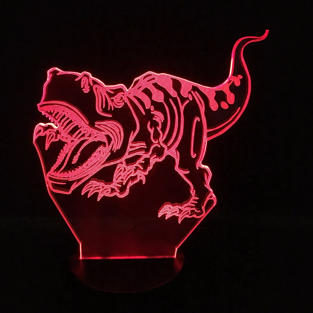 T-Rex Charging 3D LED Lamp