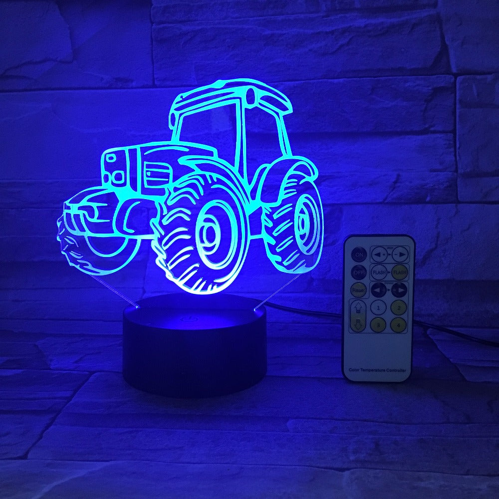 Farm Tractor 3D LED Lamp
