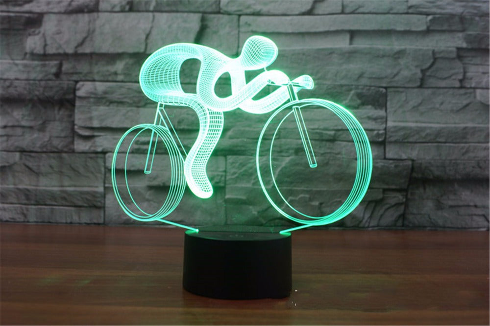 Bicycle Rider 3D LED Lamp