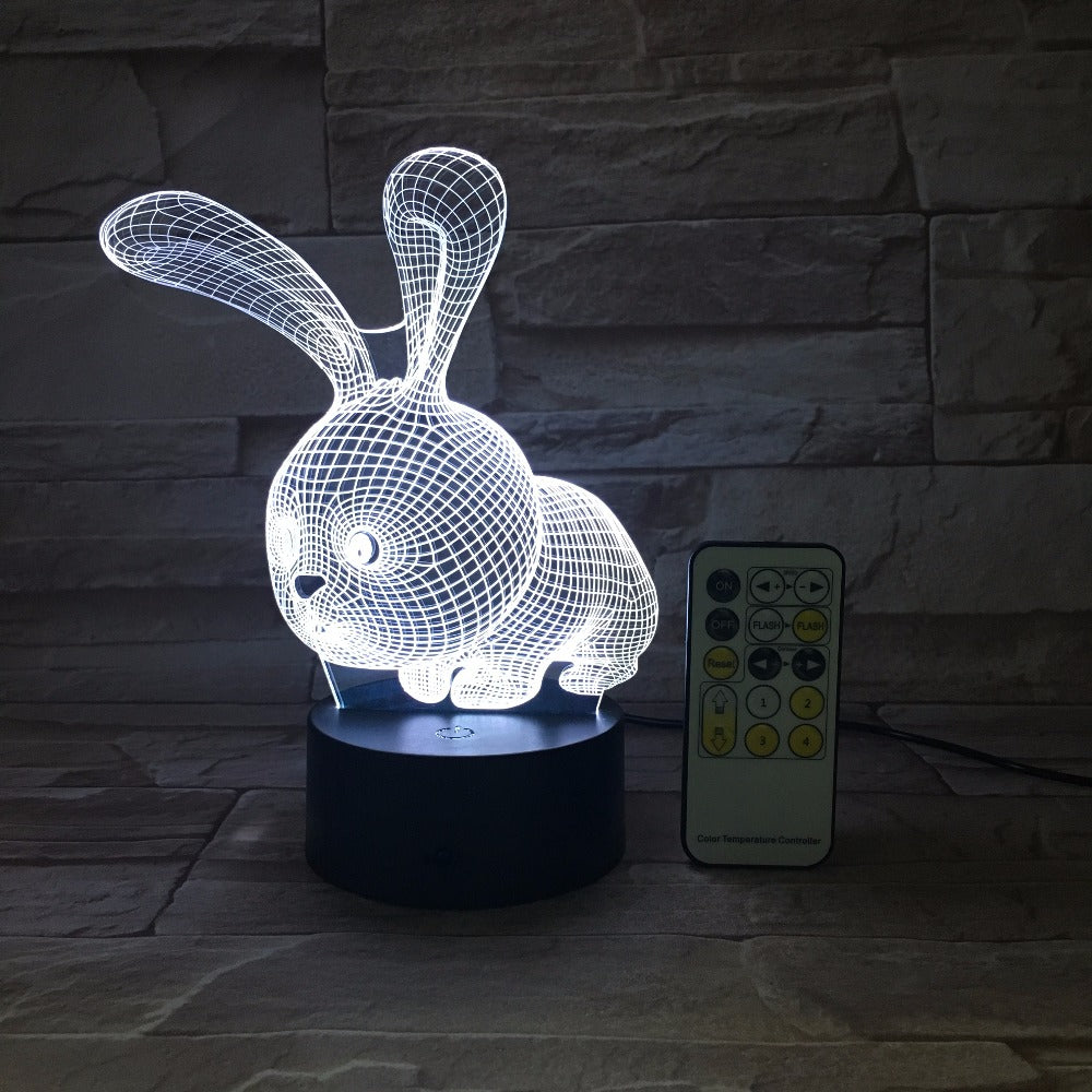 Bunny Rabbit 3D LED Lamp