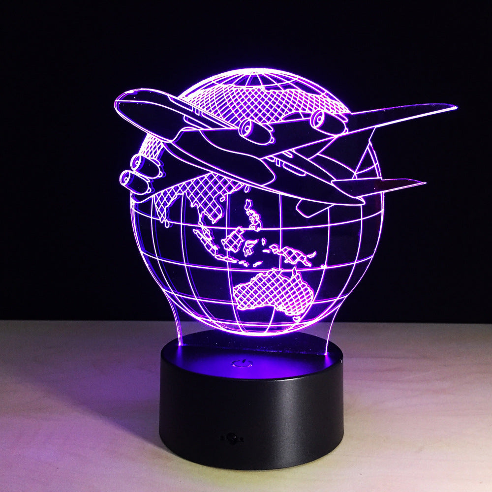 Fly The Globe 3D LED Lamp
