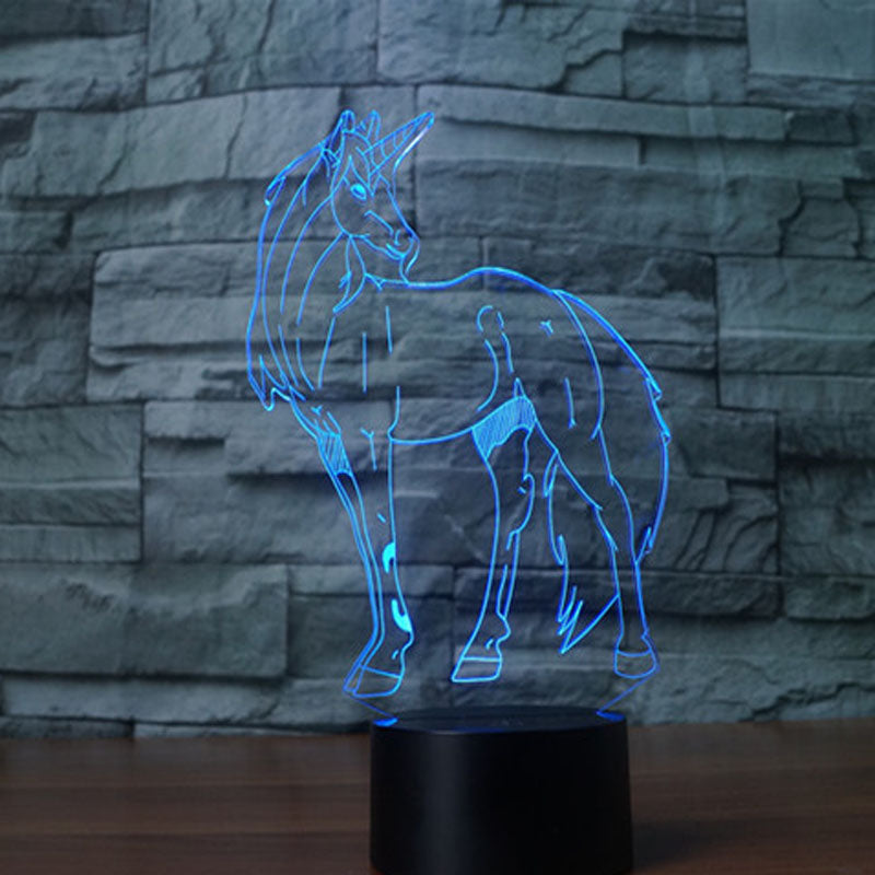 Unicorn 3D LED Night Light Lamp - 3D LED LAMP 3DLightLamps.com