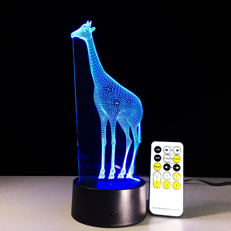 Giraffe 3D LED Lamp