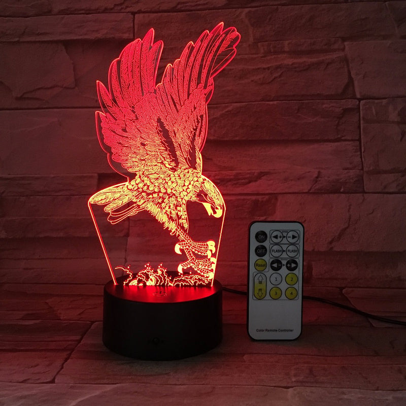 Landing Eagle 3D LED Lamp
