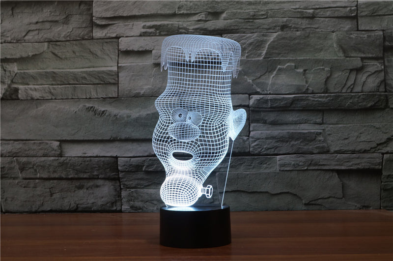 Candle Man 3D LED Night Light Lamp - 3D LED LAMP 3DLightLamps.com