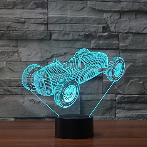 Vintage American Racing Car 3D LED Lamp