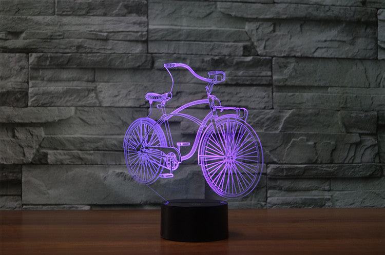 Classic Bicycle 3D LED Night Light Lamp - 3D LED LAMP 3DLightLamps.com