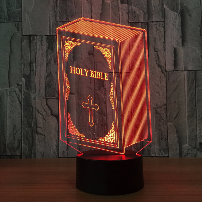 Holy Bible 3D LED Night Light Lamp