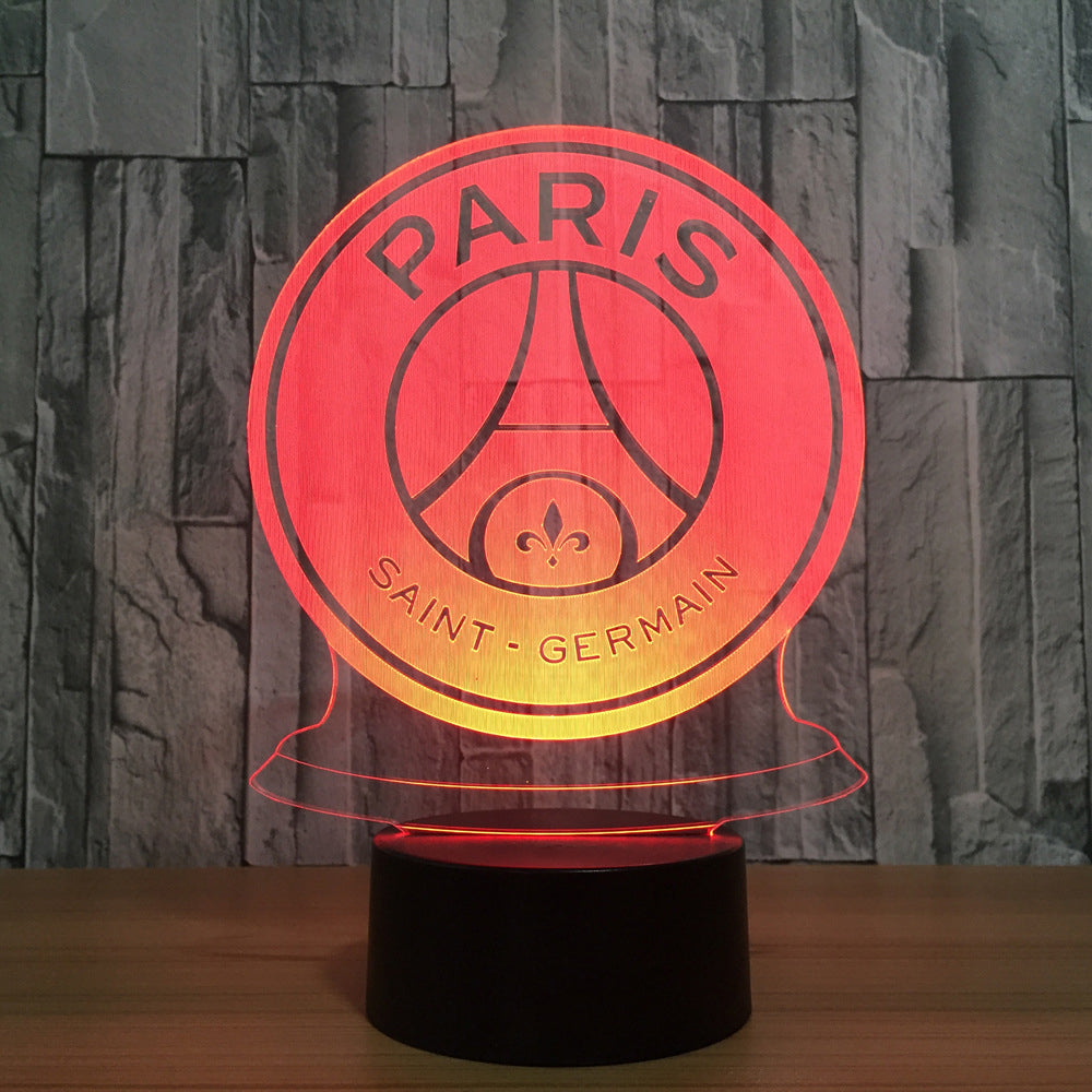 Paris Saint Germain Crest 3D LED Night Light Lamp - 3D LED LAMP 3DLightLamps.com