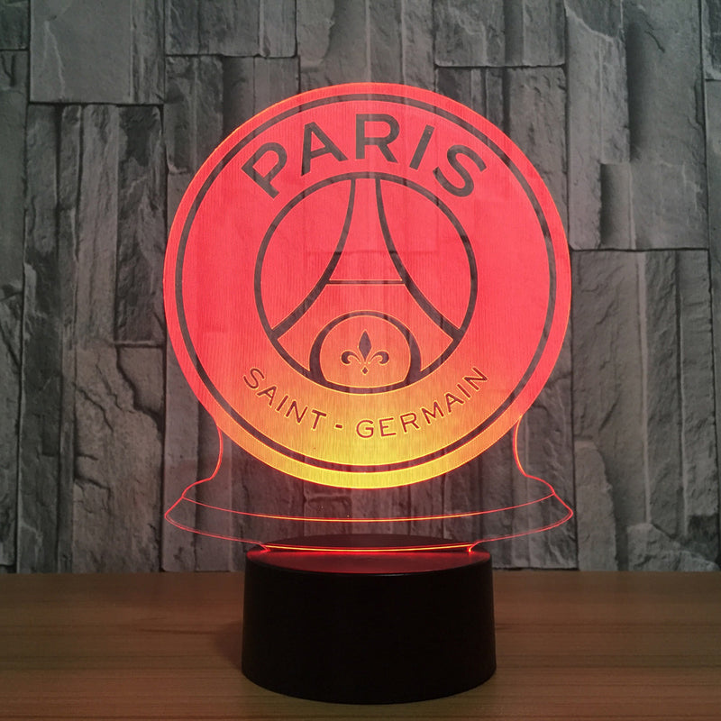 Paris Saint Germain Crest 3D LED Night Light Lamp