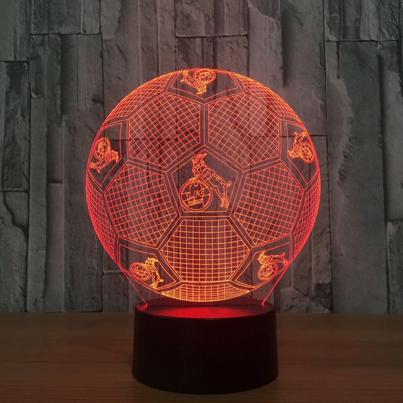 Soccer Ball 3D LED Night Light Lamp - 3D LED LAMP 3DLightLamps.com