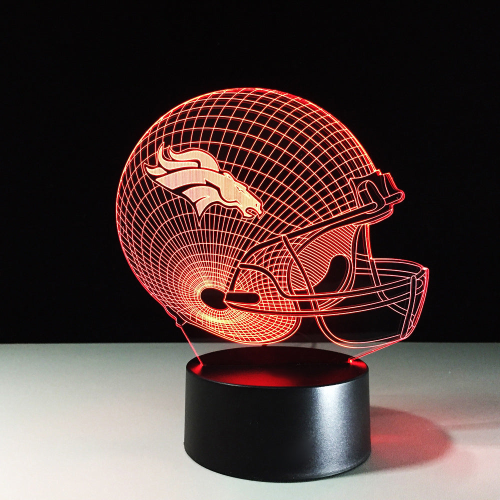 Football NFL Helmet 3D LED Night Light Lamp - 3D LED LAMP 3DLightLamps.com