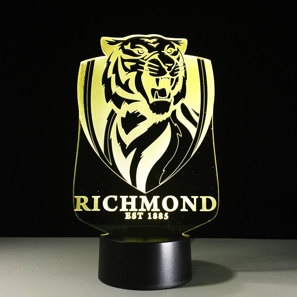Richmond Tigers Est 1885 Crest 3D LED Night Light Lamp - 3D LED LAMP 3DLightLamps.com