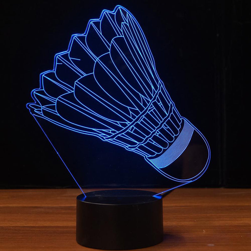 Badminton 3D LED Night Light Lamp - 3D LED LAMP 3DLightLamps.com