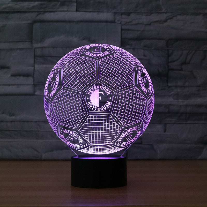 Soccer Ball 3D LED Lamp - 3D LED LAMP 3DLightLamps.com