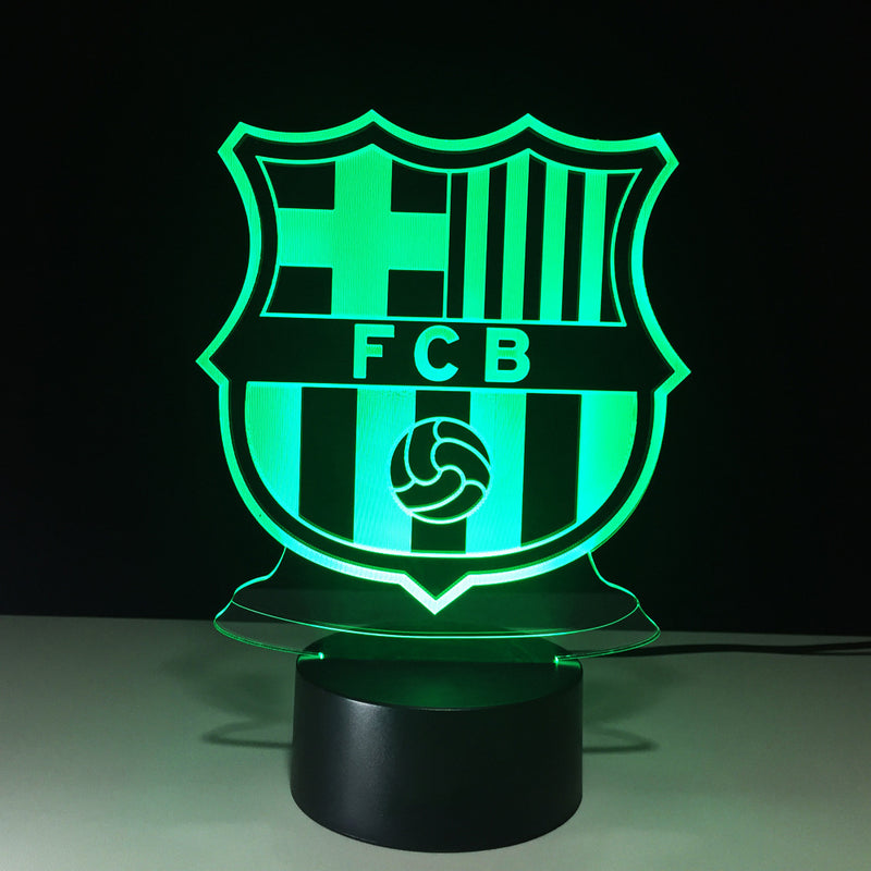 Soccer Crest 3D LED Lamp