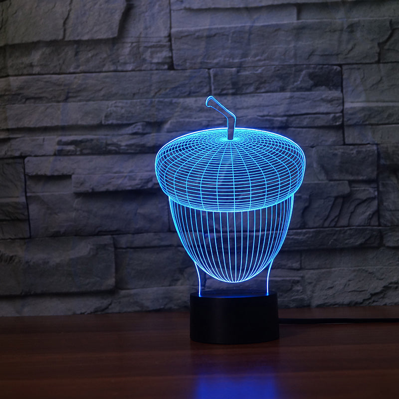 Acorn 3D LED Night Light Lamp - 3D LED LAMP 3DLightLamps.com