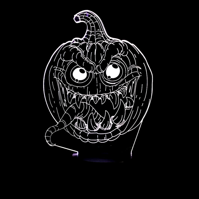 Spooky Halloween Pumpkin 3D LED Lamp - 3D LED LAMP 3DLightLamps.com