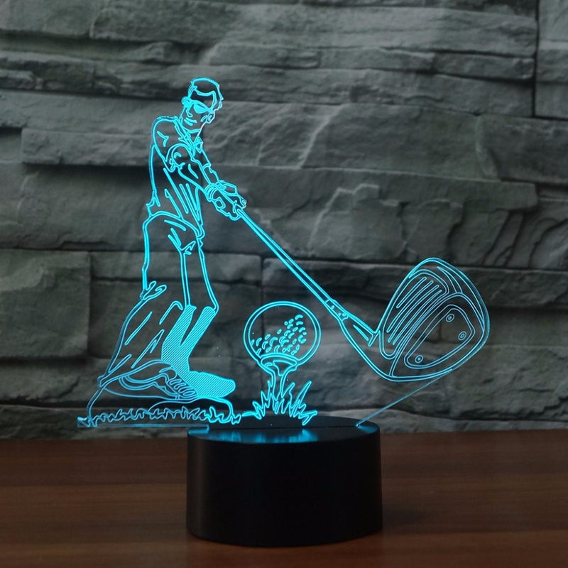 Golf Tee Up Wedge 3D LED Night Light Lamp - 3D LED LAMP 3DLightLamps.com